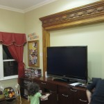 big screen TV in the family room