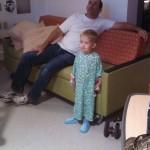 Watching the big flat screen tv
