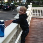 Playing in the front yard at the Yawkey House