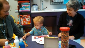 arts n crafts in the play room