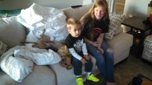 Cuz Jeanneay and Niko... he adores Bronson