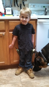 """""""ready to go to work like dad"""""""