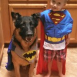 A boy hero and his dog sidekick