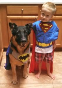 A boy hero and his dog sidekick