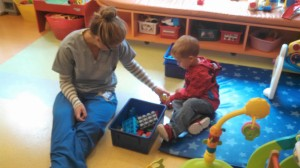 Some play room fun before surgery