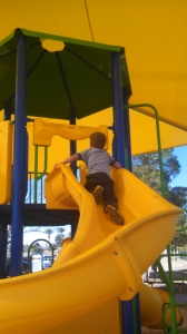 First time up a slide